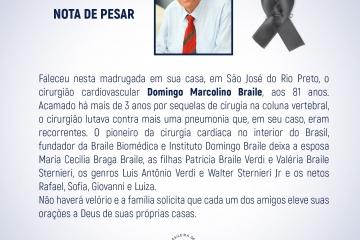 Nota de Pesar Dr. Domingo Braile